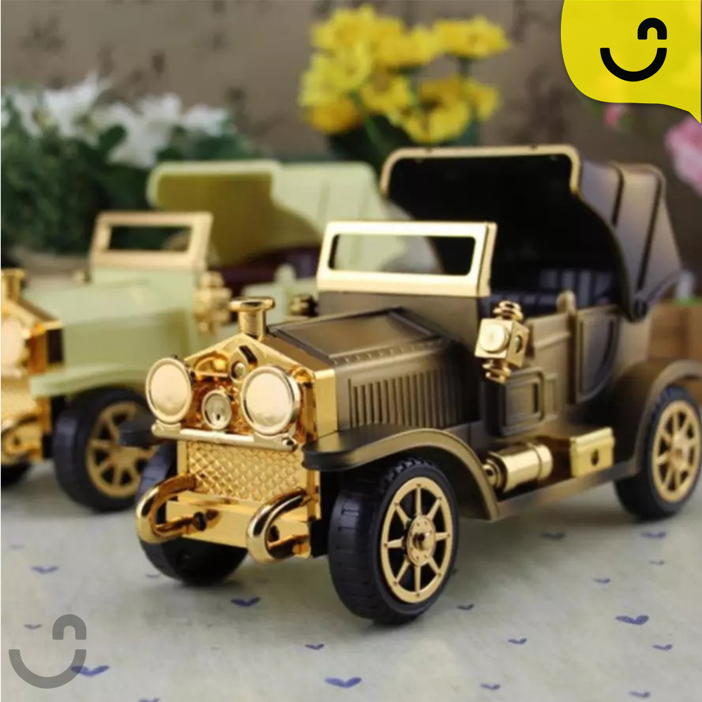 صندوق موسيقى على شكل سيارة متحركة بتصميم كلاسيكي-انتيكا ...